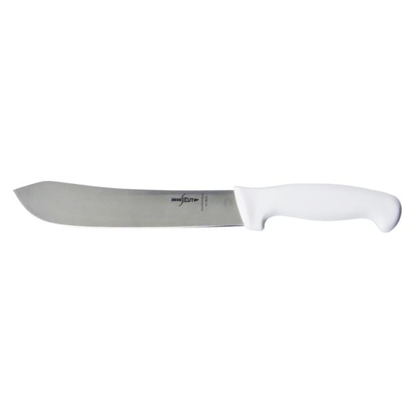 "SICUT 8"" BUTCHERS KNIFE WHITE HANDLE"
